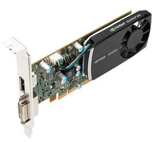 NVIDIA Quadro 400 - top side 3 quarter image