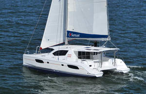 The all-new Sunsail 444, a yacht available in the Premier Plus range.