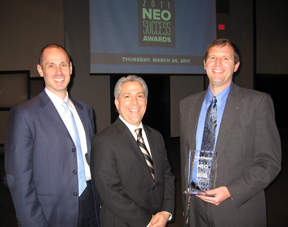 AtNetPlus Partners celebrate with Inside Business Publisher Frank Bird at NEO Success Awards