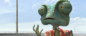Rango (Johnny Depp) in RANGO, from Paramount Pictures and Nickelodeon Movies.