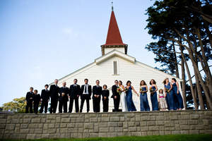 Cavallo Point Lodge wedding in front of chapel