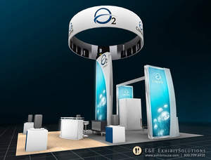 Custom booth rentals from E & E Exhibit Solutions