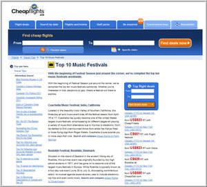 Cheapflights.ca's list of Top 10 Music Festivals