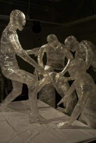 Sing and Scream Along Scotch Tape Sculpture