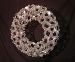 Triangulated Torus Scotch Packaging Tape Sculpture