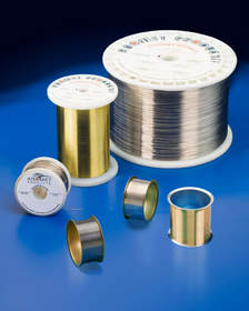 Precious metal clad wire, composite wire products