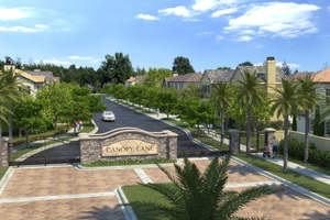 costa mesa new homes, gated new homes, south coast metro, canopy lane