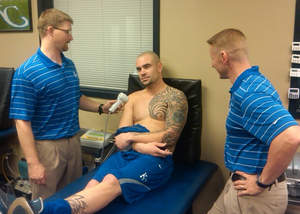 Professional sport teams use the MR4 laser for post-injury treatment