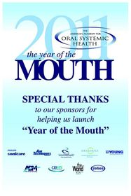American Academy for Oral Systemic Health Year of The MOUTH!