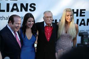 Thalians Gala Chairs Bob and Kira Lorsch with 'Mr. Wonderful' Hugh M. Hefner and bride-to-be Crystal Harris