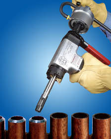 Mongoose Air Clamp End Prep Tool features power assisted clamping