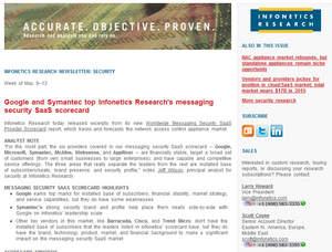 infonetics research google symantec top messaging security saas vendors