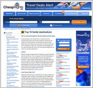 Cheapflights.ca's Top 10  Family Summer Destinations