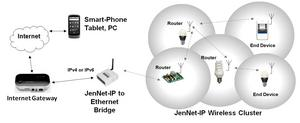 JenNet-IP network diagram