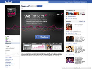 Wall Street by Zecco for Facebook