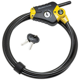 Ideal for active dads, the 8413DPF Cable Lock can be used to secure bicycles, grills, lawn equipment or large tools.