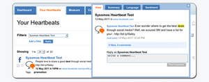 Facebook Engagement in Sysomos Heartbeat