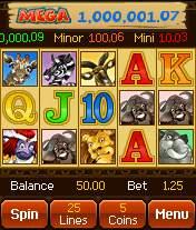 Mega Moolah progressive video slot at All Slots Mobile Casino