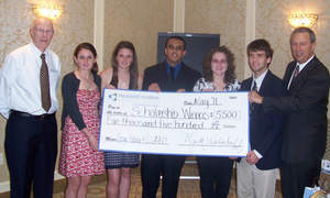 New York Credit Union Scholarship Winners with Mark Welshoff, President & CEO of Palisades FCU