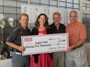 Ingram Micro Donated $150,000 to six different charities including The Joyful Child Foundation -- In Memory of Samantha Runnion at their 18th Annual West Coast Charity Golf Classic held at Tustin Ranch Golf Course