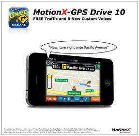 MotionX-GPS(R) Drive the best selling turn-by-turn driving App for the iPhone