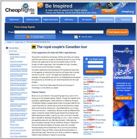 Cheapflights.ca tips for the Royal Couple's Canadian Tour