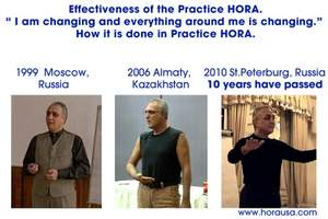 Footage from three video documentaries of Master HORA, the creator of the Evolutionary-Meditation