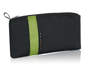 Keyboard Travel Express - Black ballistic nylon with Green accent stripe