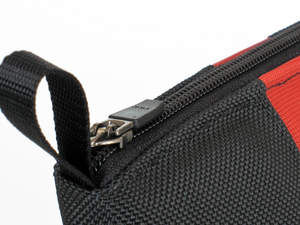 Keyboard Travel Express - Loop and YKK self-locking zipper closeup.