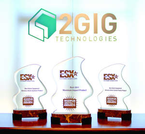 2GIG won 3 2011 Maximum Impact Awards at ESX, including 2 best of category and overall best.
