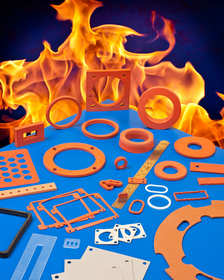 Die cut silicone gaskets for high temperature applications