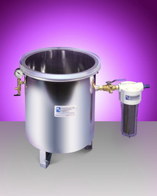 vacuum chamber for degassing and deaeration