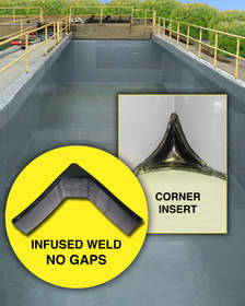 GOAD Tank Linings feature molded corner inserts and infused machine welds