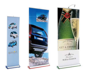 Banner stands from E & E Exhibit Solutions