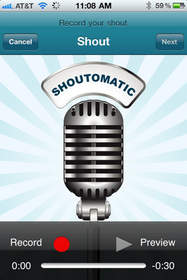 ShoutOmatic app is available for free on the iPhone, iPad and iPod touch