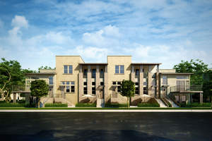 la townhomes, townhomes in la, new la homes, gated townhomes