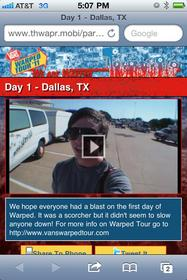 Vans Warped Tour, mobile video, Thwapr