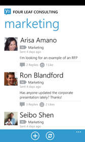 Windows Phone, Group Feed, Yammer