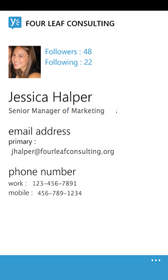 Windows Phone, User Profile, Yammer