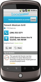 android, whitepages, localicious, hyper-local search, business search