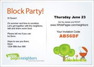 WhitePages, neighbors, National Night Out, block party