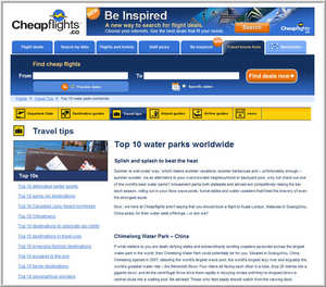 Cheapflights.ca Top 10 Water Parks Worldwide