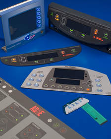 membrane switches feature discrete icon and key ring back lighting