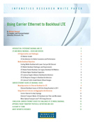 Infonetics Research's white paper, 'Using Carrier Ethernet to Backhaul LTE,' by Michael Howard