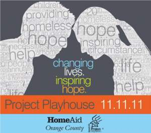 Project Playhouse, HomeAid OC, Balboa Bay Club, Irvine Spectrum, General William Lyon