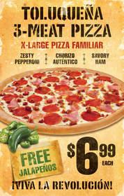 Pizza Patron's La Toluquena pizza