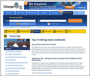 Cheapflights.ca Top 10 Hiking Trails Worldwide