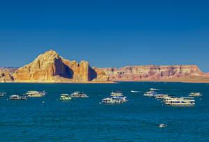 Lake Powell, Wahweap Bay, Castle Rock Cut, water levels, houseboat, fishing, Lake Mead