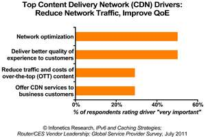 Infonetics Research IPv6 and Caching Strategies survey chart