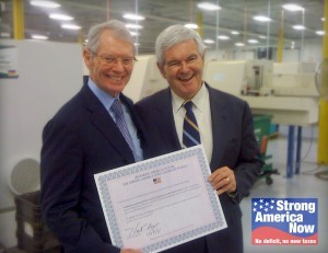 Newt Gingrich signs Six Sigma Pledge